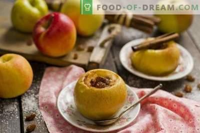 Mere de copt cu miere și fructe uscate