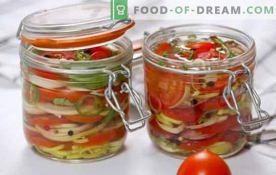 Salate delicioase de roșii pentru iarnă: vitamine în borcane pentru întreaga familie. Cele mai bune retete de salate delicioase pentru iarnă de roșii