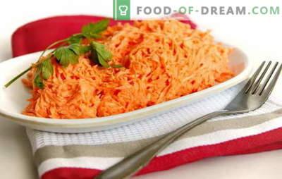Salată de morcov cu maioneza simplă și în stilul bucătăriei coreene. Rețete salate de morcovi rapide cu maioneză