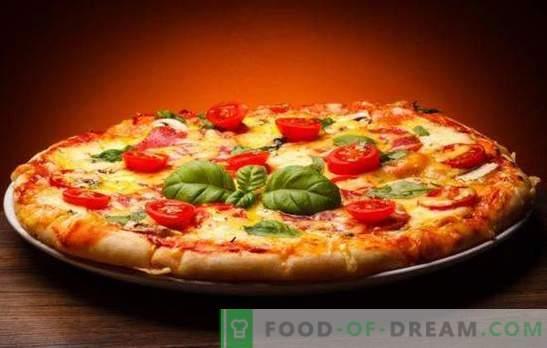 Pizza cu brânză și roșii este diferită și foarte gustoasă! Retete pentru brânzeturi rapide și originale și pizza de tomate