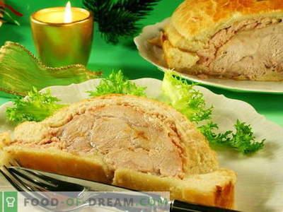 Carnea coaptă în aluat - cele mai bune rețete. Cum să gătești carnea corectă și gustoasă, coaptă în aluat.