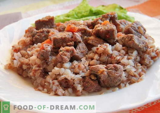 Buckwheat with meat - the best recipes. How to properly and tasty cooked buckwheat with meat.