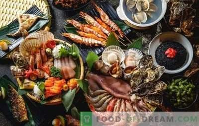 Masa pentru Anul Nou: numai pește și fructe de mare
