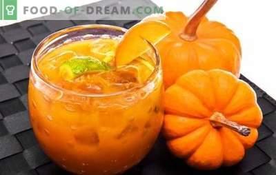 Gemul de dovleac cu portocale este o delicatesă utilă. Opțiuni dulceață de dovleac cu portocale și lămâie, caise uscate, cătină albă, nuci