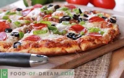 Rețeta pentru o pizza rapidă în cuptor - o cină rapidă. Variante de pizza rapidă în cuptor cu diferite umpluturi: pe pâine pita sau pe baghetă