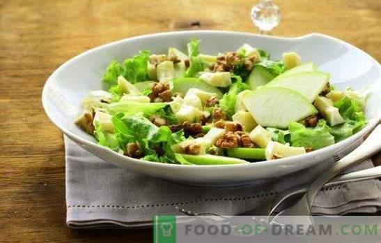 Salată cu mere și brânză - cu dragoste din Franța! Retete pentru salate cu mere si branza, morcovi, carne de pui, bete de crab
