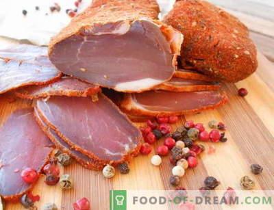 Carne uscată - cele mai bune rețete. Cum să gătești în mod corespunzător și să gătești jerky.