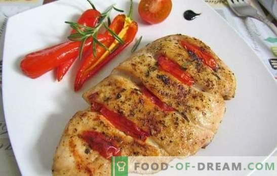 Piept de pui cu tomate: Top 10 cele mai bune rețete de autor. Se prăjește, se fierbe, coace piept de pui cu roșii