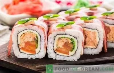 Sushi la domiciliu: rețete și trucuri pas cu pas. Cum să gătești orez, umple și răsucește sushi la domiciliu