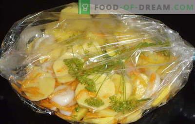 Keptos bulvės į rankovę orkaitėje - puikiai! Bulvės kepimo maišelyje: klasikiniai ir nauji receptai