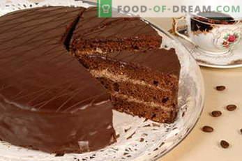 Prăjituri. Rețete de tort: Napoleon, Tort de miere, Biscuiți, Ciocolată, Lapte de pasăre, Smântână ...
