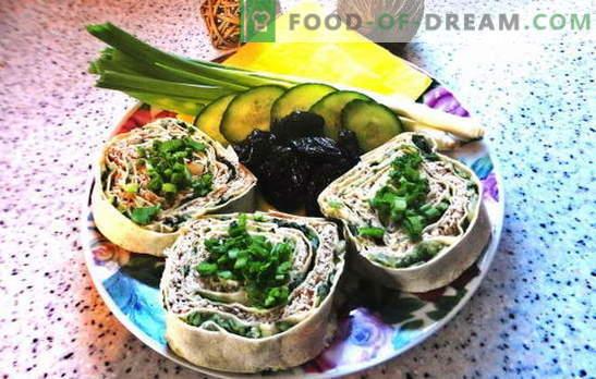 Lavash roll cu brânză topită: o gustare bugetară. Rețetă foto pas cu pas a pâinii cu pâine pita cu brânză topită: simplă și gustoasă!