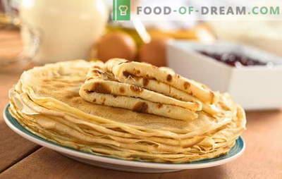 I pancakes sul kefir bollito sono una prelibatezza preferita nella nuova versione. Ricette frittelle openwork per yogurt con acqua bollente