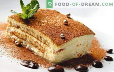 Tort cu mascarpone și fructe, fructe de pădure, ciocolată, lichior. Retete pentru tort de burete, shortbread, tort de clatite cu mascarpone