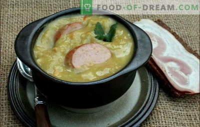Supă olandeză - o mulțime de gust! Rețete de supe olandeze diverse: mazare, legume și carne, cu chifteluțe și șuncă