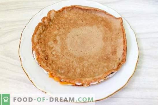Tort ficat de hepatice (reteta foto): secretul sucului! Pas cu pas Gătit tort de ficat de pui cu fotografii