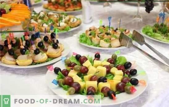 O gustare gustoasă pentru nuntă este cel mai important element al sărbătorii solemne. Gustări delicate, picante, parfumate și elegante