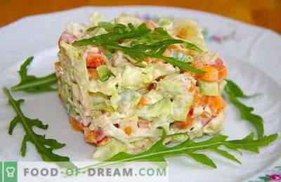 Salatele de pui fierte sunt cele mai bune rețete. Cum sa faci o salata gatita si gatita cu pui fiert.
