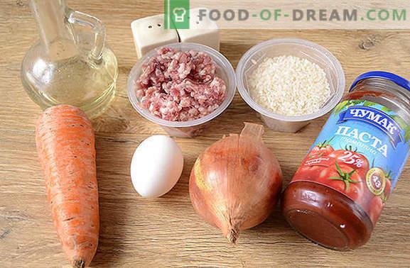 Ciuperci cu orez în sos: copiii iubesc, adulții iubesc! Rețeta fotografică pas cu pas a chifteluțelor cu orez într-un aragaz lent