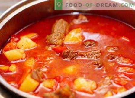 Goulash de porc - cele mai bune rețete. Cum să gătesc corect și gustos gulaș de porc.