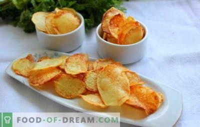 Chips-uri la domiciliu - nici un rău! Cum se fac cipuri acasă: în cuptorul cu microunde, în cuptor, în brânză, din pita, clasic