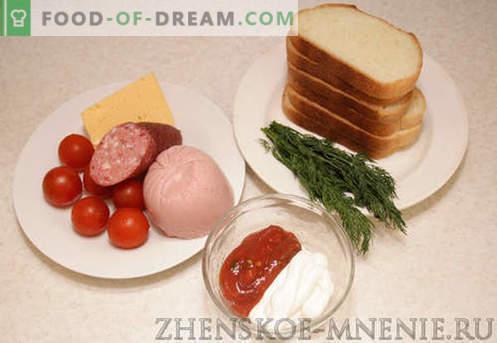 Sandvișuri fierbinți - rețetă cu fotografii și descriere pas cu pas.