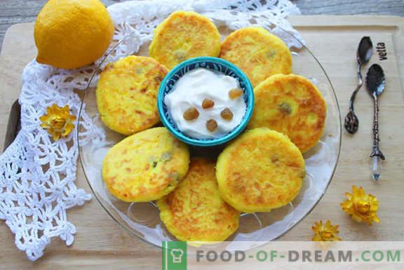 Brânzeturi originale cu turmeric și stafide