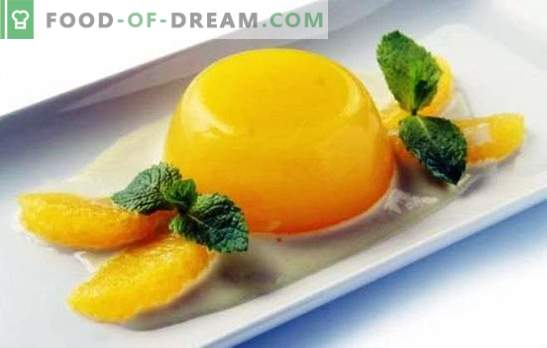 Jelly with oranges is a light and healthy dessert. How to cook jelly with oranges and recipes with him