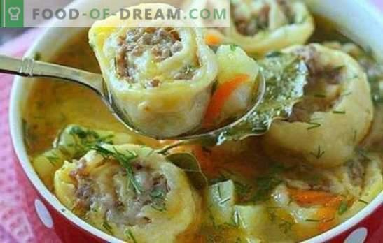 Găluștele leneș sunt un fel de mâncare preferată. Modalități de gătit găluște leneș: din pita, în smântână, cu varză, cu legume