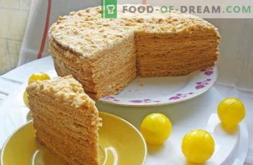 Tort de miere - cele mai bune rețete. Cum să gătești în mod corespunzător și delicios un tort de miere.