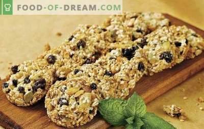 Cookie-uri de ovaz fără zahăr - Bunuri utile. Secretele de preparare a prăjiturilor de ovăz fără zahăr cu fructe uscate, miere