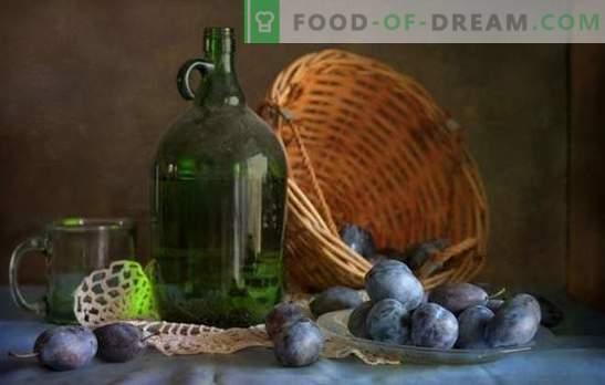Vărsături prune acasă: simplu ca asta! Tehnologia de fabricare a lichiorurilor de prune la domiciliu