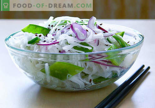 Salate Daikon - cele mai bune cinci rețete. Cum să gătești în mod corect și gustoase salate de la daikon.