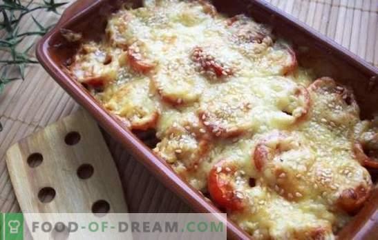 Felul delicat - dovlecei cu brânză în cuptor. Zucchini cu brânză în cuptor, cu roșii, ciuperci sau piper!