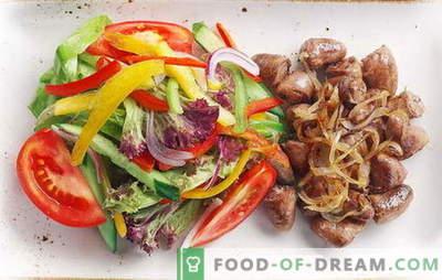 Пилешки срца со кромид - секојдневен деликатес! Рецепти пржени, задушени, печени срца со кромид, морков