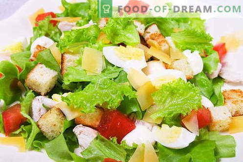 Salată de Caesar - rețetele și ingredientele potrivite. Cum sa preparati sosul (salata) pentru salata
