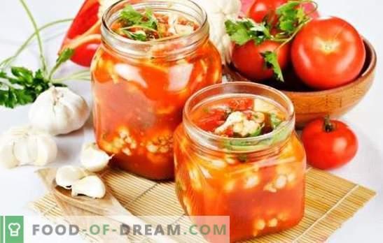 Salată de conopidă pentru iarnă - oh, billet! Retete pentru salate de iarna conopida si dovedita pentru iarna