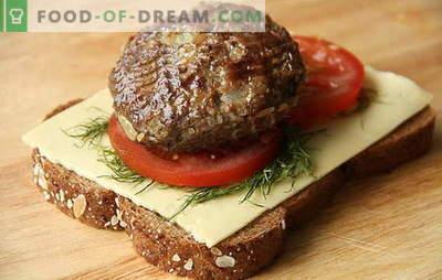Cum să faci felii de carne de vită și de carne de porc subțire. Toate secretele de preparare de carne de casă de casă din carne de porc tocată și carne de vită