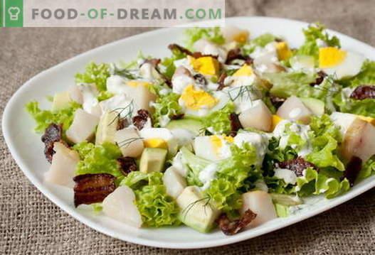 Salată de pește afumată - cele mai bune rețete. Cum să gătești în mod corespunzător și gustos o salată de pește afumat.