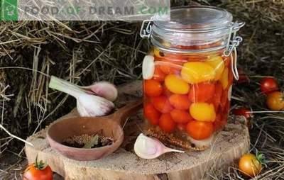 Roșii de cireș pentru iarnă - o mică bucată de ascuțit puțin! Rețete preparate de neegalat cu roșii de cireș pentru iarnă
