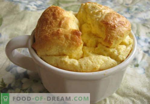 Souffle pentru copil - cele mai bune retete. Cum să rapid și gustoase bucătar sufle pentru un copil.