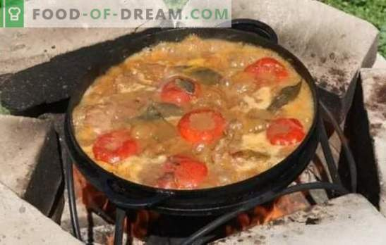 Shurpa pe gust bogat în foc și aromă nemaipomenită. Rețete rătăcite pe focul de vânat, carne de vită, miel, carne de porc, năut