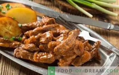 Stroganoff de carne de vită: o rețetă clasică de carne. Carne de vită Stroganoff Secretele: Clasic și versiuni diferite