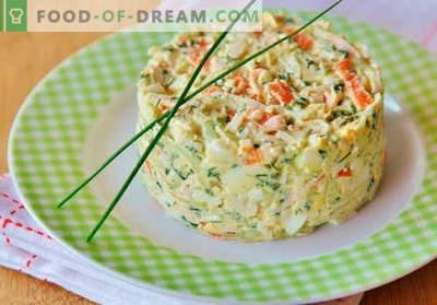 Krabų salotos su agurkais - įrodyti virimo receptai. Kaip virti krabų salotos su agurkais.