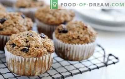 Muffins cu stafide - acestea sunt cupcakes! Rețete de briose delicioase, blande și parfumate cu stafide pentru ceai delicios