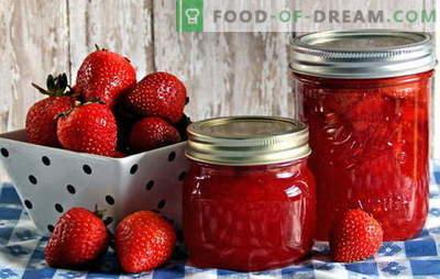 Conservarea căpșunilor - păstrarea aromelor și a gustului. Protecția căpșunilor: rețete pentru gem, compot, gem etc.