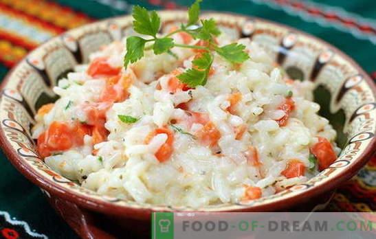 Orez cu morcovi - mereu prietenos! Dulci și picante, prăjite, fierte și coapte - preparate din orez cu morcovi: cele mai bune rețete