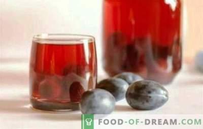 Compote de prune și struguri - o băutură sănătoasă pe tot parcursul anului. Comoda fragilă de prune și struguri nu se întâmplă prea mult