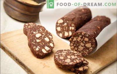 Cârnați gătiți - un gust de neuitat! Cârnați dulci din biscuiți cu lapte condensat, brânză de vaci, nuci, fructe uscate