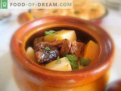 Cartofii cu carne sunt cele mai bune retete. Cum să gătiți în mod corespunzător și gustos cartofi cu carne în vase.